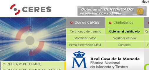 certificado ceres digital
